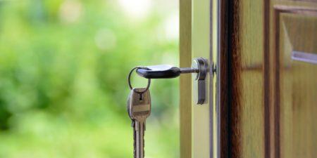 keys in a home door